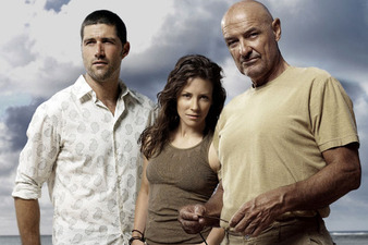 Matthew Fox Evangeline Lilly and Terry OQuinn from Lost event main