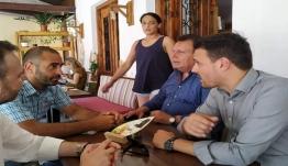 Επίσκεψη του υποψήφιου βουλευτή του ΚΙΝ.ΑΛ.- ΠΑΣΟΚ Βάιου Καλοπήτα στη Σύμη