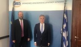Συνεργασία του Β. Υψηλάντη με τον Διοικητή ΟΑΕΔ για την ανεργία και τα νέα προγράμματα στα Δωδεκάνησα
