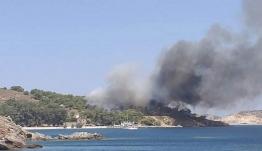 Υπό έλεγχο η πυρκαγιά στην περιοχή Μερικιά – Κουλούκι στη Λέρο.