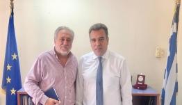 «Συνάντηση του Υφυπουργού Τουρισμού, κ. Μάνου Κόνσολα, με τον Πρόεδρο της SkyExpress για την αεροπορική σύνδεση των μικρών νησιών»