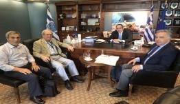 Συνάντηση Βασίλη  Υψηλάντη με τον Υπ. Εμπορικής Ναυτιλίας κ. Γιάννη Πλακιωτάκη για θέματα της Δωδεκανήσου