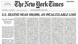 Συγκλονίζει το πρωτοσέλιδο των New York Times: Δεν ήταν απλώς ονόματα, ήταν εμείς