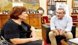 Με την σύζυγο του ήρωα της Κύπρου, στρατηγού Γεωργίου Παπαμελετίου, συναντήθηκε ο Περιφερειάρχης