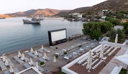 Patmos Aktis Suites & Spa στην Πάτμο,Το ξενοδοχείο που μεταμορφώθηκε σε θερινό σινεμά