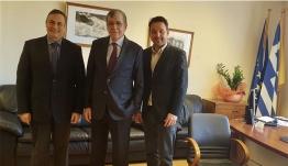Συνάντηση Δημάρχου Χάλκης Κ. Φραγκάκη Ευάγγελου με τον νέο διοικητή του Νοσοκομείου