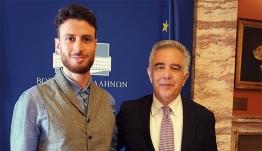 Συνάντηση με τον Βουλευτή Δωδεκανήσου Βασίλη Α. Υψηλάντη, είχε στην Αθήνα, ο Πρόεδρος Αρχιτεκτόνων Δωδεκανήσου Γιώργος Σκιαδόπουλος