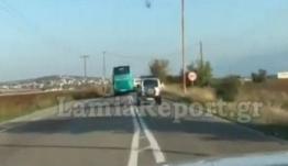 Λαμία: Τρόμος στον δρόμο! Επικίνδυνες προσπεράσεις από οδηγό κτελ – video