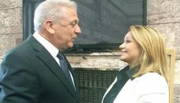 Συνάντηση Μίκας Ιατρίδη με Δημήτρη Αβραμόπουλο στη Βουλή των Ελλήνων